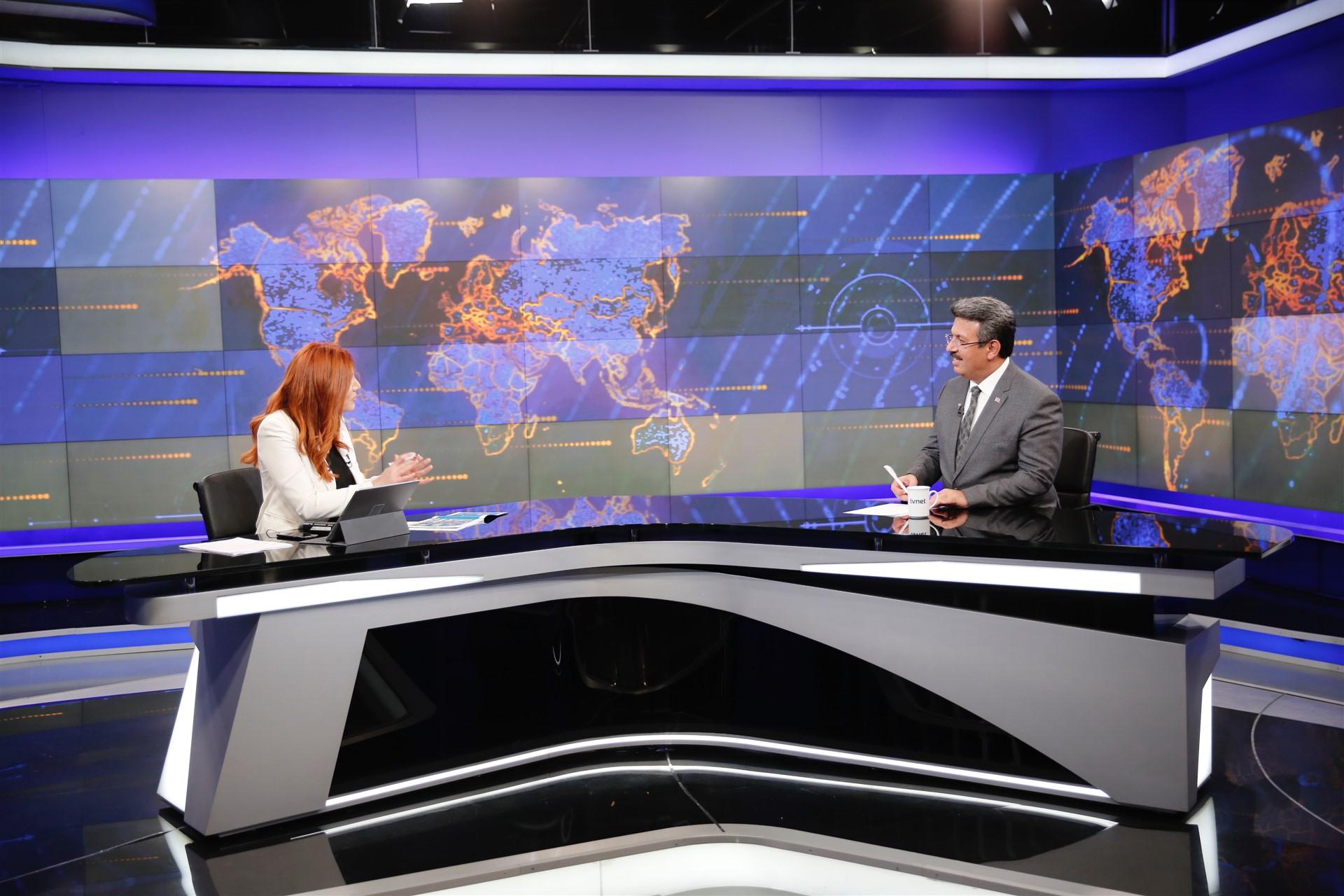 BAŞKAN KARADENİZ TV NET CANLI YAYINDA PROJELERİ ANLATTI