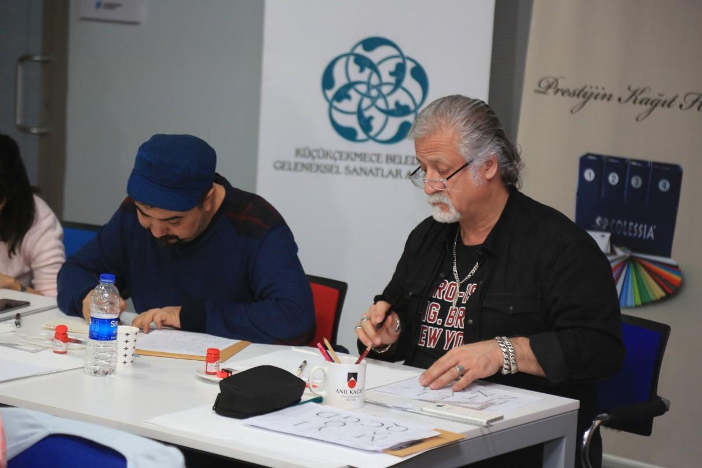 KALİGRAFİ USTASI YVES LETERME KÜÇÜKÇEKMECE'DE